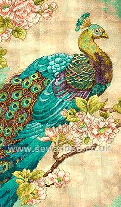 Buy Indian Peacock Cross Stitch Kit Online at www.sewandso.co.uk