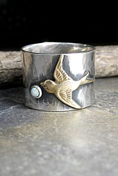 Chasing Dreams -  new ring in the shop with opal stone.  Other custom stone choices available too.