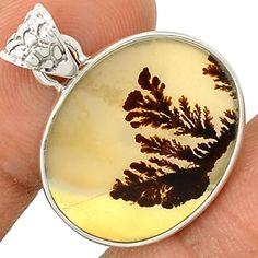 Scenic Dendritic Agate 925 Sterling Silver Pendant Jewelry SP196443 | eBay