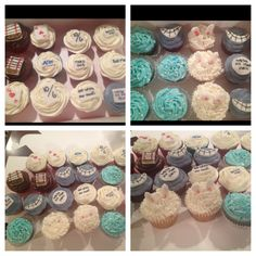 Alice in wonderland cupcakes - love the blue colour with pearls
