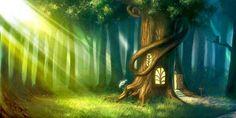 Forest. Tree is my House #illustration #gnomes / Foresta. L'Albero è la mia casa #illustrazione #gnomi