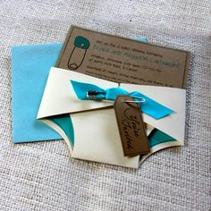 Baby Shower Invitations! What a cute idea!