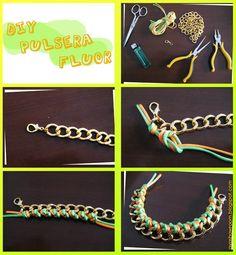 DIY knotted bracelet