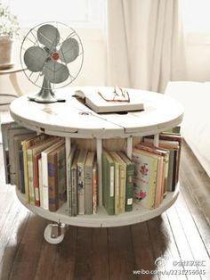 portable bookshelf! :)