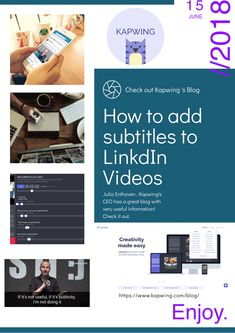 The video montage maker combine photos gifs and video clips into how to add subtitles to linkedin videos julia enthoven ceo at httpskapwing shares insight on how to engage with subtitles on videos using easy ccuart Image collections