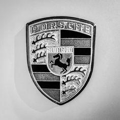 1977 Porsche 911s Coupe Emblem - 0156bw55 Photograph by Jill Reger Porsche 550, Porsche Logo, Ferdinand Porsche, Fine Art Prints, Framed Prints, Sale Poster, Future Car, Cool Walls, Coat Of Arms