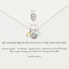 b.u. Run With The Wind, Dance In The Moonlight Necklace