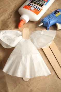 Easy Coffee Filter Angel Craft and Ornament For Kids: Hey Lovely! The countdown is on! If you have time left or some Christmas crafting, this angel ornament is super-quick and easy to make, and super- Christmas Angel Crafts, Kids Christmas Ornaments, Christmas Crafts For Kids To Make, Preschool Christmas, Holiday Crafts, Christmas Tree, Popsicle Stick Christmas Crafts, Christmas Poinsettia, July Crafts