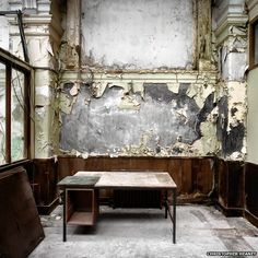 The abandoned drawing offices of Harland & Wolff - parts of the Titanic were probably designed in this very room!