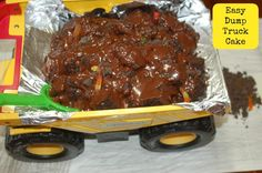 An Easy Dump Truck Cake {Tutorial}