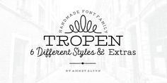 Tropen is an elegant handmade typeface created and published by Ahmet Altun