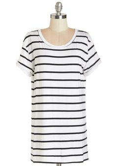 White and black striped tshirt