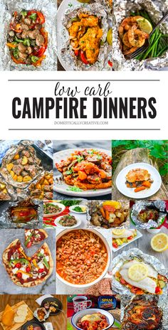Easy low carb dinner ideas you can make around the campfire summer recipes summer recipes abendessen rezepte recipes recipes dessert recipes dinner Foil Packet Meals, Foil Packets, Campfire Food, Campfire Recipes, Campfire Meals Foil, Campfire Breakfast, Outdoor Cooking, Camping Cooking, Camping Food Make Ahead