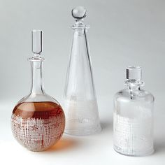 Crosshatch Decanter-White