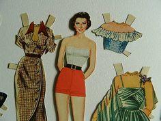Movie Star  CUT Ava Gardner 1940 Paper Dolls by PaperSeeker, $9.50