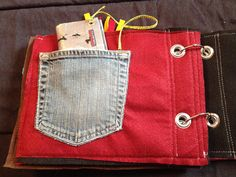 Quiet book page - pocket and wallet