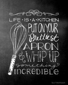 Cute free kitchen printable!