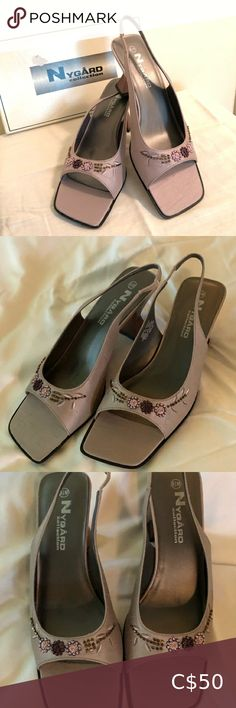 """Bianca Nygard Sandals New in Box sz 8.5 M Bianca Nygard Sandals New in Box sz 8.5 M Taupe in a linen look, 2.5"""" heels with beautiful embellishment over toes. Lovely! Bianca Nygard Shoes Sandals Zara Sandals, Nude Sandals, Black Wedge Sandals, Black Wedges, Leather Sandals, Women's Shoes Sandals, Heels, Green Flats, Naturalizer Shoes"""