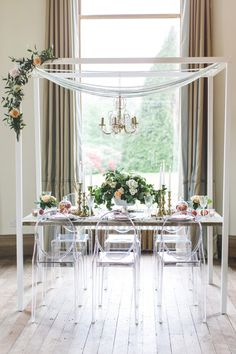 glam reception table, photo by Chantal Lachance-Gibson Photography http://ruffledblog.com/first-look-inspired-scottish-wedding #weddingideas