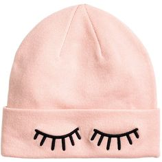 Knit Hat $9.99 (460 DOP) ❤ liked on Polyvore featuring accessories, hats, knit hat, embroidered hats, embroidery hats and embroidered knit hats