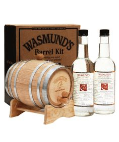 Wasmund's Rye Spirit Barrel Set. A great idea from the folks at Wasmund's - a 2 litre new charred oak cask, two 70cl bottles of their rye spirit and the challenge of maturing your own 'whisky' or cocktail. It'll pick up flavour quickly in a barrel this small so it's perfect for experimentation.