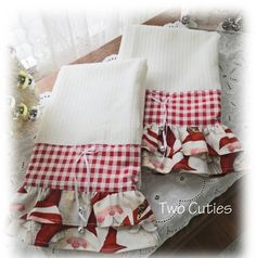 The Cutest Pair Of Santa Kitchen Towels