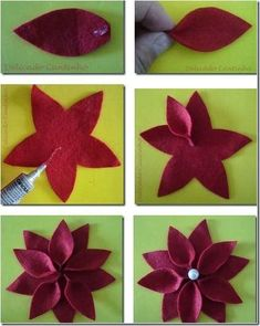 flor de pascua en fieltro - Buscar con Google