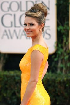Maria Menounos demonstrates the volumised high bun.