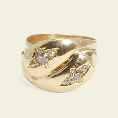 Victorian Diamond Entwined Snakes Ring, $2,500.00