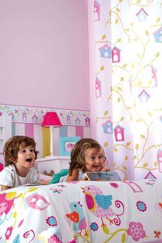 ¿Te gustan nuestros pajaritos cantarines? Ven y descubre nuestras nuevas colecciones de infantiles ¡Te gustarán! www.cortinasluciasl.es