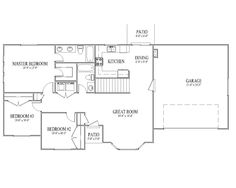 simple rambler house plans with three bedrooms 1271 salt city home designs. beautiful ideas. Home Design Ideas