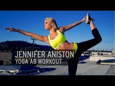 April 15, 2013 Monday - Jennifer Aniston Yoga Ab Workout - YouTube. Ten minutes of yoga that will make you. Some advance moves. Balance required . Bikini season approaches soon!
