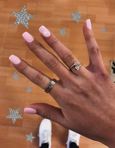 White nail tips design Simple Acrylic Nails, Best Acrylic Nails, Summer Acrylic Nails, Simple Nails, Aycrlic Nails, Hair And Nails, Star Nails, Nail Jewelry, Fire Nails