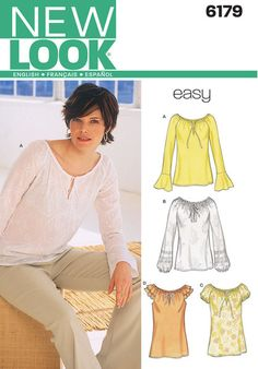 Misses Tops. New Look sewing pattern.