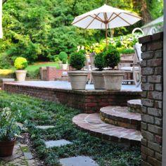 falkner gardens :: pathway to pool at ridge drive residence