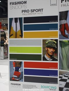 Pro Sport trend color palette for fall 2014 winter 2015 #trendforecasting