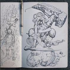 James Jean sketch