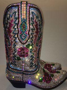 Stunning custom Swarovski boots by STL Sparkle.