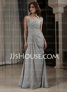Evening Dresses - $146.99 - Sheath Sweetheart Floor-Length Chiffon Evening Dress With Ruffle Lace Beading (022027387) http://jjshouse.com/Sheath-Sweetheart-Floor-Length-Chiffon-Evening-Dress-With-Ruffle-Lace-Beading-022027387-g27387