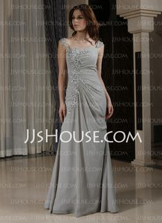 Evening Dresses - $146.99 - Sheath Sweetheart Floor-Length Chiffon Evening Dress With Ruffle Lace Beading (022027387) http://jjshouse.com/Sheath-Sweetheart-Floor-Length-Chiffon-Evening-Dress-With-Ruffle-Lace-Beading-022027387-g27387