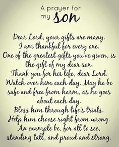 A Prayer for my Son More