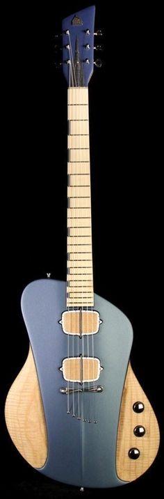 Sauvage One-Piece Master III Natural and Aquamarine Blue Jazz Guitar, Music Guitar, Cool Guitar, Acoustic Guitar, Unique Guitars, Custom Guitars, Vintage Guitars, Cheap Electric Guitar, Electric Guitars