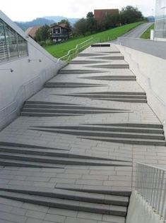 57 Ideas For Ramp Stairs Architecture Design Stairs Architecture, Architecture Details, Landscape Architecture, Landscape Design, Architecture Portfolio, Garden Design, Ramp Stairs, Building Stairs, Ramp Design