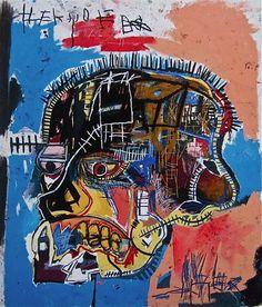 Jean-Michel Basquiat, Untitled, Acrylic and mixed media on canvas, 81 x in. Jean-Michel Basquiat Estate / Artists Rights Society Jm Basquiat, Basquiat Artist, Basquiat Prints, Andy Warhol, Graffiti Art, Jean Michel Basquiat Art, Basquiat Paintings, Neo Expressionism, Street Art