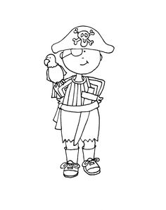 Play Pirate | Dearie Dolls Digi Stamps Hand Embroidery Designs, Diy Embroidery, Embroidery Patterns, Digi Stamps Free, Digital Stamps, Kids Prints, Free Prints, Adult Coloring Pages, Coloring Sheets