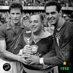 #WC1958: #Brazil; coach #VicenteFeola