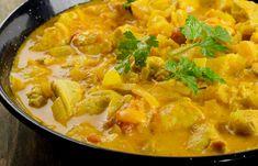 Kurczak curry Thai Red Curry, Ethnic Recipes, Food, Essen, Yemek, Meals