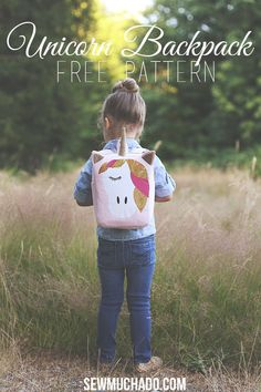 75fce56732b Unicorn Backpack Free Pattern - with Cricut Explore Air 2. Sewing ...