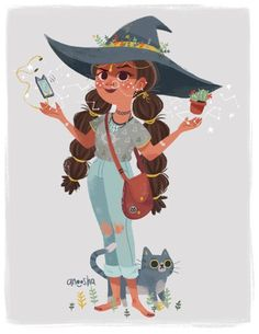 Illustration portfolio of artist Anoosha Syed. Specialises in character design, visual development and illustration. Art And Illustration, Illustrations, Character Illustration, Character Creation, Character Art, Witch Drawing, Under Your Spell, Modern Witch, Witch Art