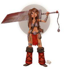 Warrior by *LuigiL on deviantART